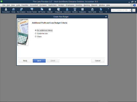 how to record or create a budget in quickbooks 2018 dummies