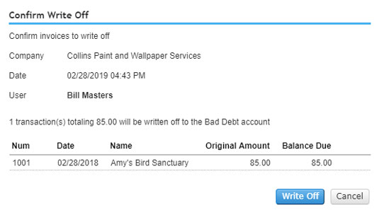QBO selected invoices