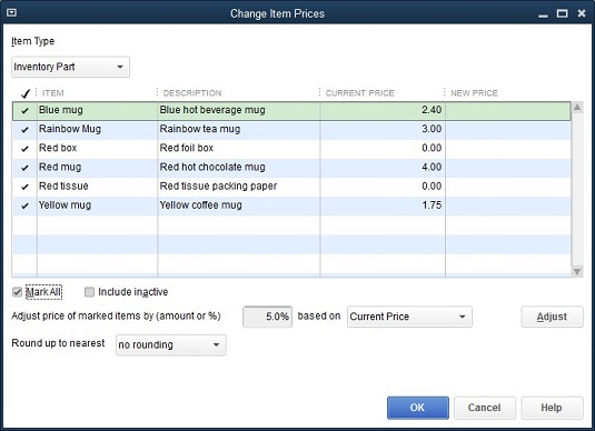 How to Adjust Prices and Price Levels in QuickBooks 2017