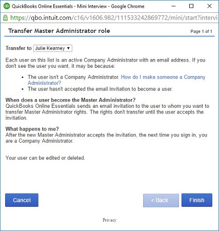 How to Transfer Master Administrator Rights Back to Your