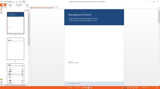 management reports QBO