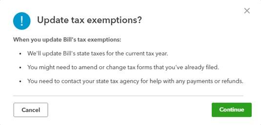 payroll exemptions QBO