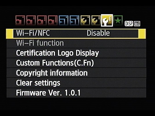 How to Give the Canon Rebel T6/1300D a Wi-Fi Name - dummies
