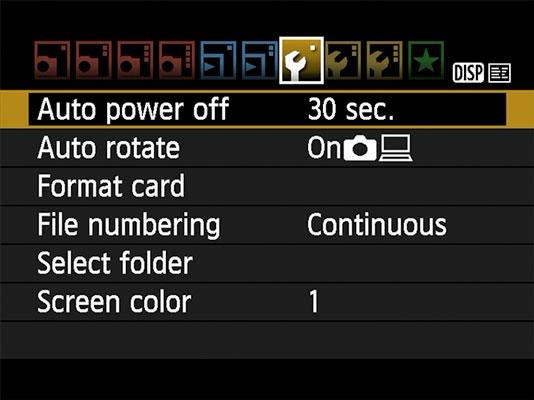 rebel-t7-auto-power-off