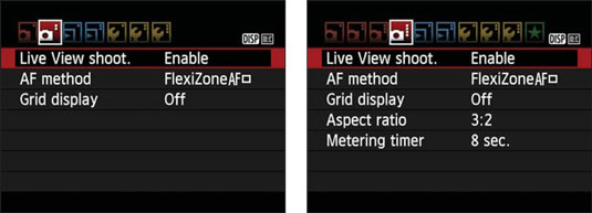 rebel-t7-live-view-shoot-menu