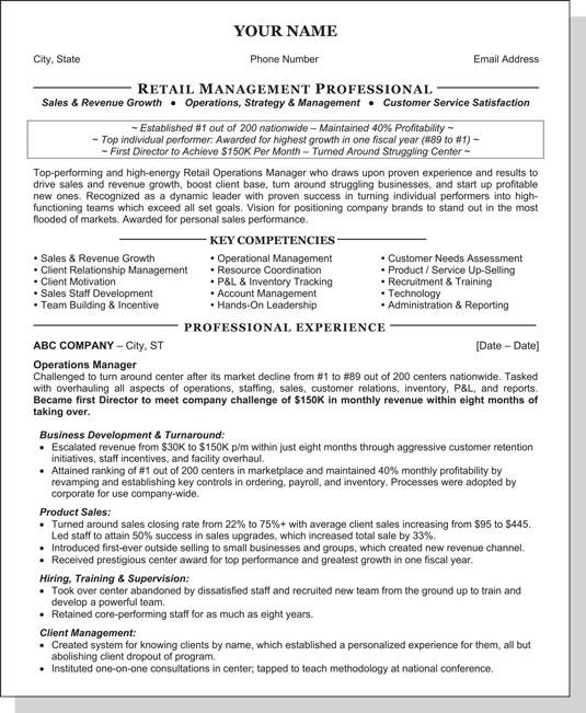 core resume