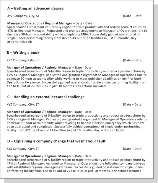 Sample Letter Of Voluntary Demotion Of Position from www.dummies.com