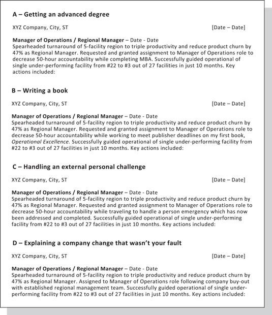 Demotions on resume