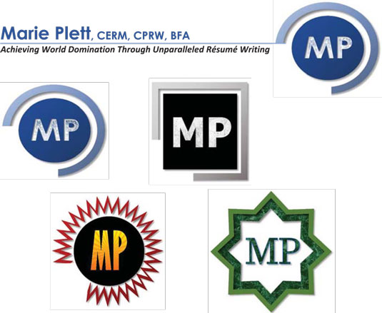 Logos on a resume