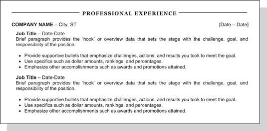 progressive positions on resume