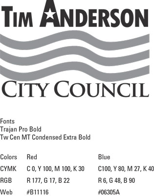 Branding sheet for political campaign