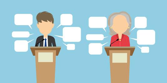 political debate graphic