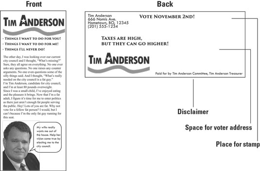 Rack card for political campaign