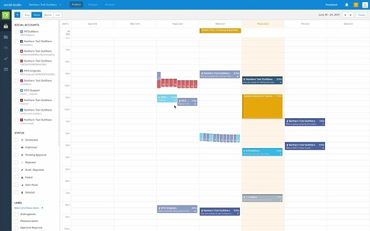 calender outbound posts Marketing Cloud