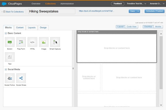 how to create content in marketing cloud s cloudpages dummies