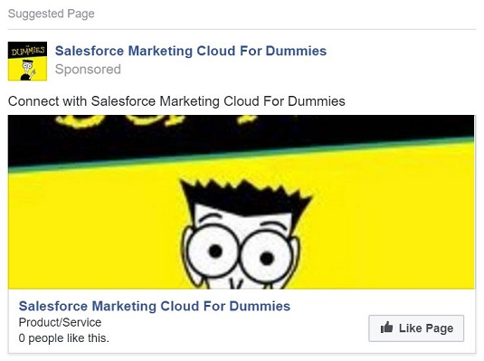 sample Facebook ad Marketing Cloud