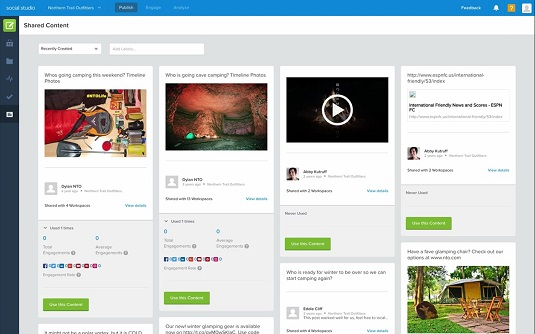 Shared content performance Salesforce Marketing Cloud