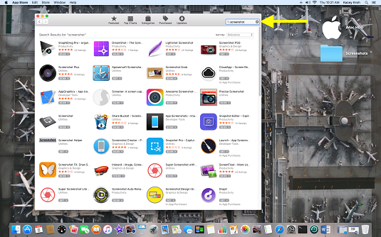 Search for mac appliocations in app store