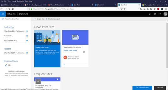 SharePoint followed site
