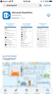 SharePoint Mobile in Apple App