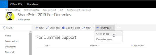 PowerApp to work with SharePoint list
