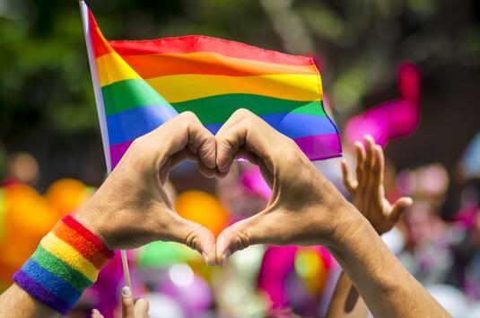 showing gay pride