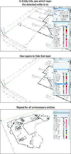 Tips Cleaning Up Imported CAD Data in SketchUp - dummies