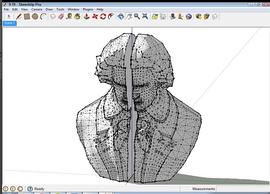 Line up for 3D printing in Sketchup
