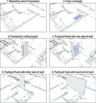 modeling a simple wall in sketchup