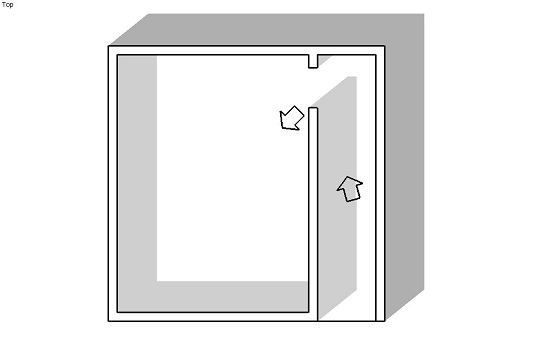Slide around corners in SketchUp