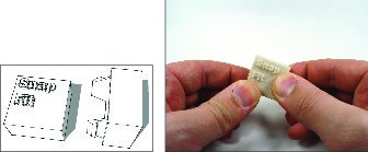SketchUp snap fit joint