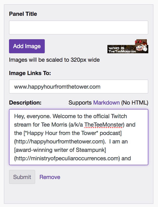 twitch-markup-language