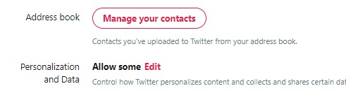 Twitter Personalization & Data