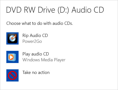 Play and Copy Music from a CD with Windows 10 - dummies