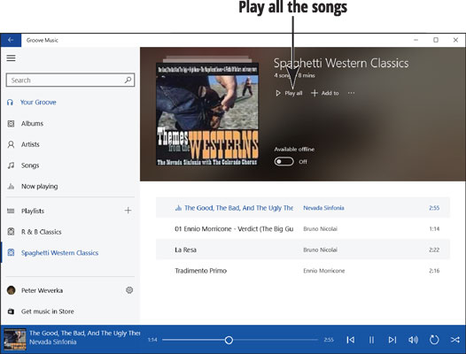 How to Create and Manage Playlists with the Groove Music App - dummies