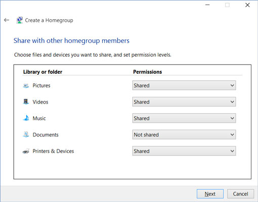 how to join or create a homegroup windows 10