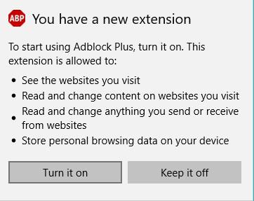 AdBlock Plus Windows 10