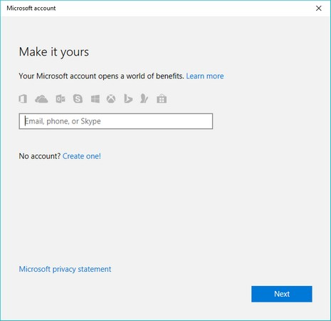 local account Windows 10