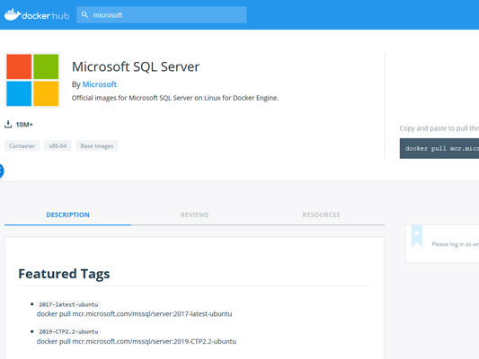 container image in docker hub