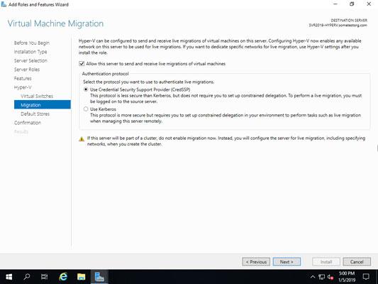 VMs live migration