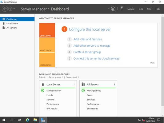 Windows Server 2019 Server Manager