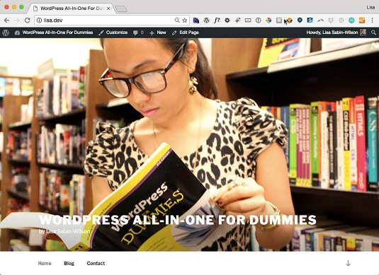 WordPress Twenty SEventeen New header