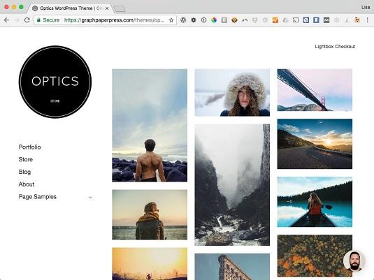 Optics WordPress theme