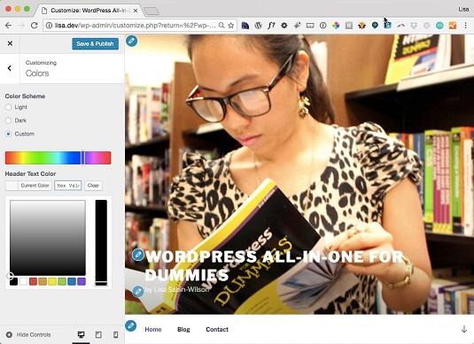 WordPress Twenty Seventeen Theme Colors
