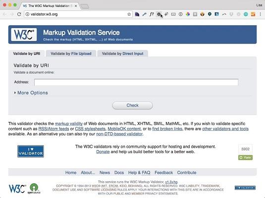 w3c markup validation tool