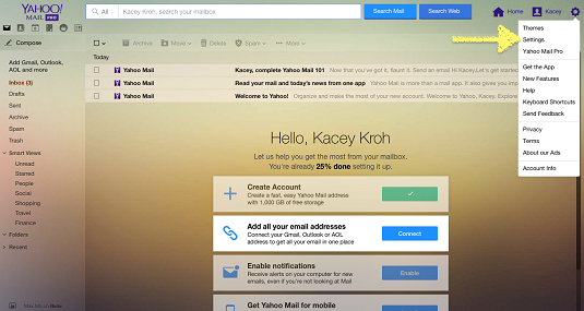 How to Create a Filter in Yahoo! Mail - dummies